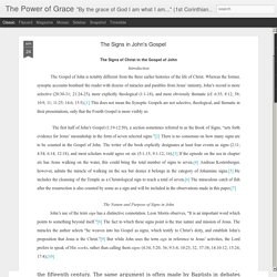 The Power of Grace: The Signs in John's Gospel