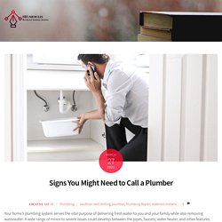 Signs You Might Need to Call a Plumber -