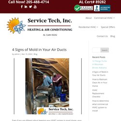 4 Signs of Mold in Your Air Ducts - Service Tech HVAC