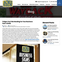 5 Signs You'll be Needing for Your Business Post-COVID