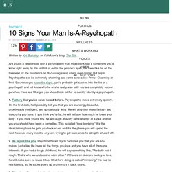 10 Signs Your Man Is A Psychopath