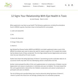 12 Signs Your Relationship With Eye Health Is Toxic