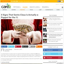 5 Signs That Santa Claus Is Actually a Puppet for the 1%