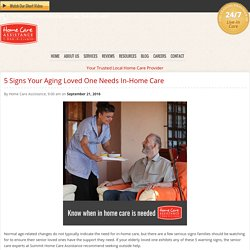 5 Signs Your Aging Loved One Needs In-Home Care