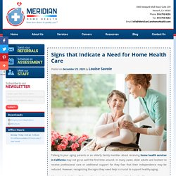 Signs that Indicate a Need for Home Health Care