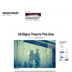 23 Signs They're The One