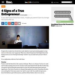 4 Signs of a True Entrepreneur