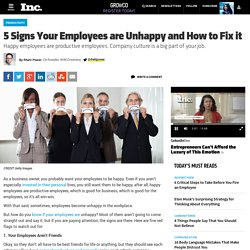 5 Signs Your Employees are Unhappy and How to Fix it