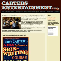Signwriting & Fairground Art Courses