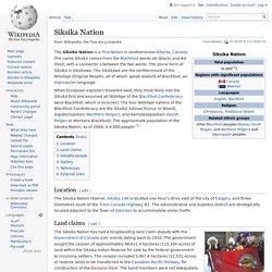 Siksika Nation - Wikipedia