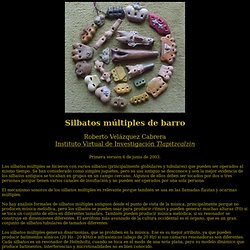silbatos multiples de barro