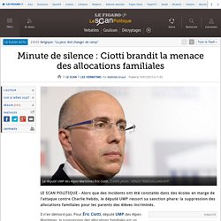 Minute de silence : Ciotti brandit la menace des allocations familiales