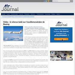 Vidéo : le silence testé sur l'ecoDemonstrator de Boeing