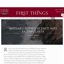 Shūsaku Endō's Silence and Faithfulness