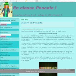 Silence, on travaille ! - En classe Pascale !