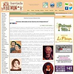 www.barriada.com.ar - Mabel Crego - Heroínas silenciadas de las Guerras de la Independencia