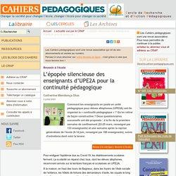 L'épopée silencieuse des enseignants d'UPE2A pour la continuité (...)