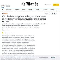 L'Ecole de management de Lyon silencieuse après les révélations estivales sur un fichier sexiste