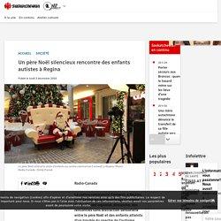 Un père Noël silencieux rencontre des enfants autistes à Regina