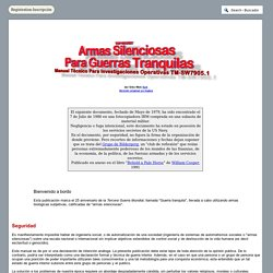 Armas Silenciosas Para Guerras Tranquilas - Manual Técnico Para Investigaciones Operativas TM-SW7905.1