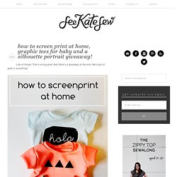how to screen print at home, graphic tees for baby and a silhouette portrait giveaway!