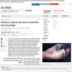 Grafeno y siliceno, los nuevos materiales de la tecnología · ELPAÍS.com