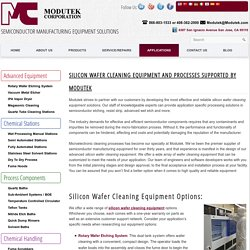 Reliable Silicon Wafer Cleaning Equipment - Modutek Corporation