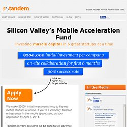 Tandem - Silicon Valley's Mobile Industry Incubator
