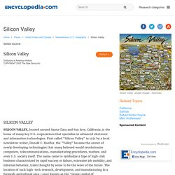 Silicon Valley facts, information, pictures