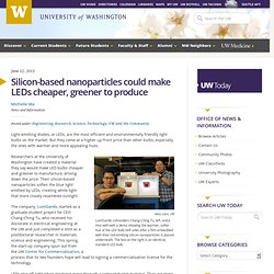 Silicon-based nanoparticles could make LEDs cheaper, greener to produce