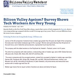Silicon Valley Ageism? Survey Shows Tech Workers Are Very Young -SVW