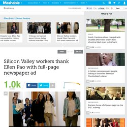 Silicon Valley workers thank Ellen Pao with full-page newspaper ad