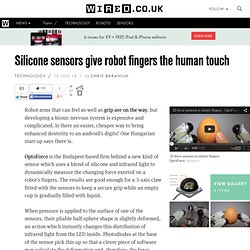 Silicone sensors give robot fingers the human touch