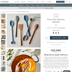 Five Two Silicone Spoons from Food52's Product Line, 3 Colors on Food52
