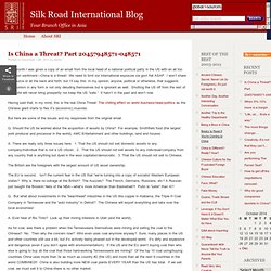 Silk Road International Blog