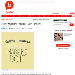 Silly Mustache DIY Projects | The New Home Ec
