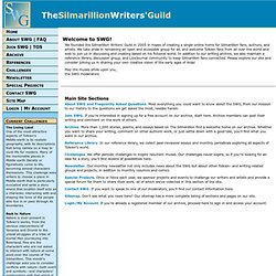 The Silmarillion Writers' Guild--An Online Community for Silmari