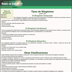 Tipos de Silogismos: El Silogismo Compuesto, El Silogismo Condicional, El Silogismo Disyuntivo...