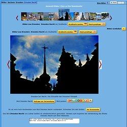 Dresden bei Nacht. Die Silouette der Dresdner Altstadt. Elbflorenz in Sachsen
