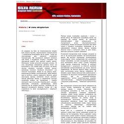 Silva Rerum - Magazyn ludzi wyobraźni - Karczma