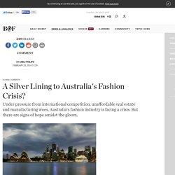 A Silver Lining to Australia's Fashion Crisis?