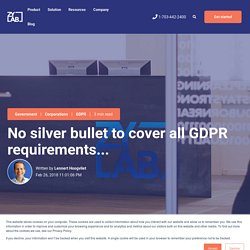 No silver bullet to cover all GDPR requirements...