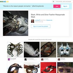 Black, White and Silver Feather Masquerade Mask on Wanelo