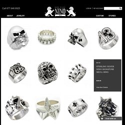 Silver Skull Biker Rings for Men Who Live As Free Spirits