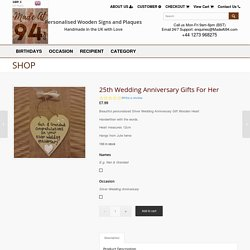 Gifts for Silver Wedding Anniversary