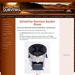 Silverfire Survivor Rocket Stove for High Efficiency Cooking