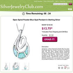 Free sterling silver jewelry. Free offers from SilverJewelryClub.com