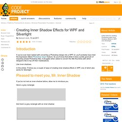 Creating Inner Shadow Effects for WPF and Silverlight