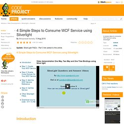 4 Simple Steps to Consume WCF Service using Silverlight