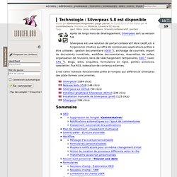 Silverpeas 5.8 est disponible